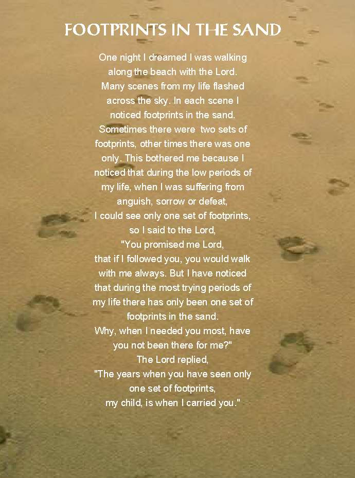 The Poem Footsteps Clip Art