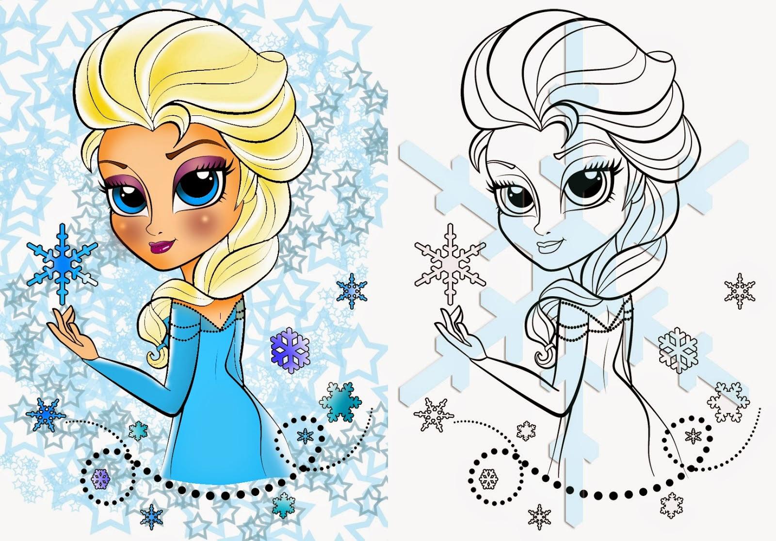 Elsa Frozen Silhouette Stickers