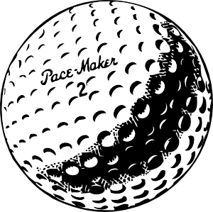 Golf Ball Courtesy Of Ocal Clipart From Clker Com