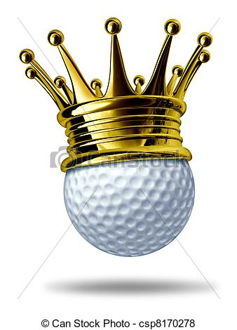 Golf Tournament Champion Symbol Represented By A White Golf Ball