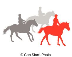 Horse Riding Winner Vector Background Concept Isolated Over