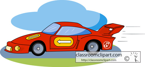 Indiana   Speedway Race Car   Classroom Clipart