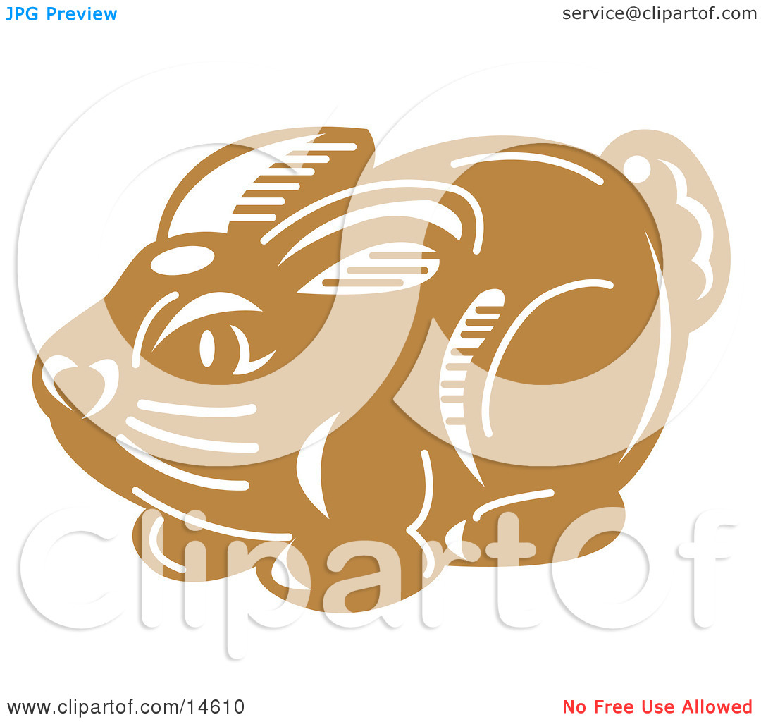 Milk Chocolate Easter Bunny Candy Clipart Illustration By Andy Nortnik