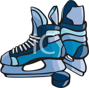 Showing post & media for Cartoon ice hockey skate and puck | www ...