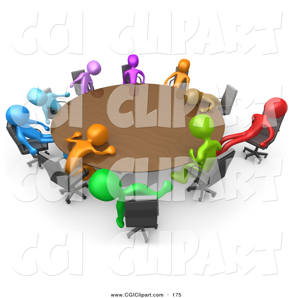 Staff Meeting Clipart Clip Art Of A 3d Meeting Of
