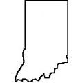 Teacher State Of Indiana Outline Map Rubber Stamp