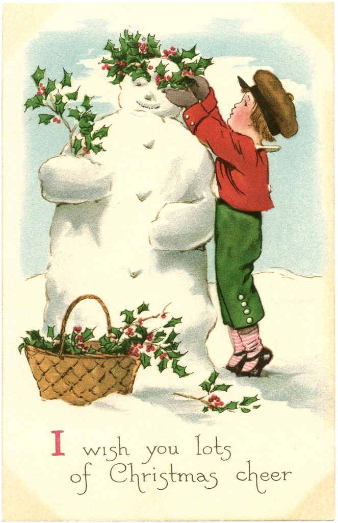 Vintage snowman clipart suggest