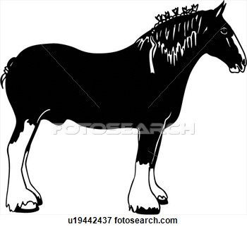 Animal Breed Clydesdale Horse Breeds U19442437   Search Clipart
