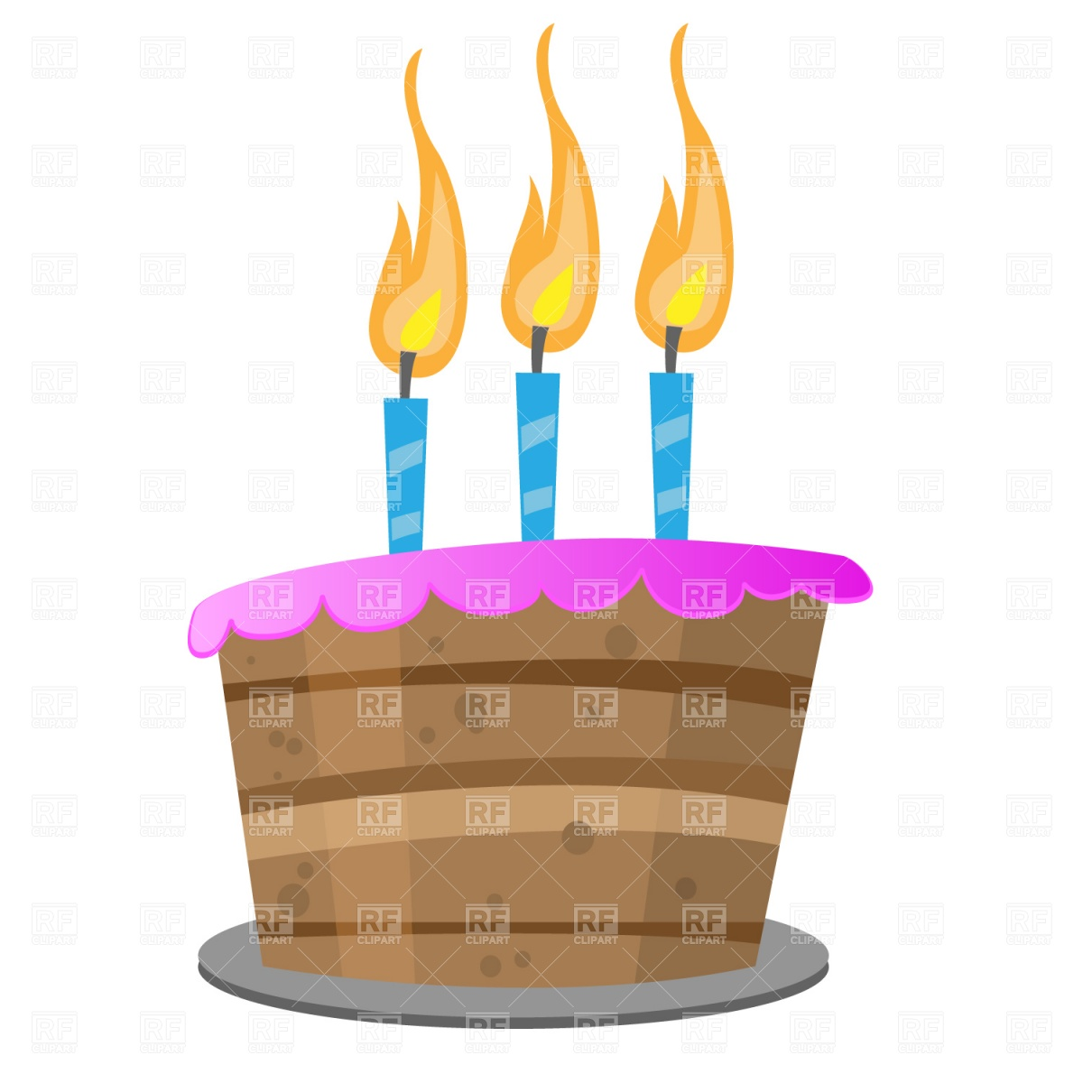 Birthday Cake With Candles 871 Food And Beverages Download Royalty