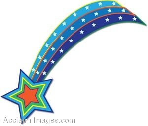 Clip Art Of A Shooting Star