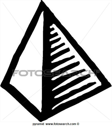 Pyramid clipart black and white Math glossary