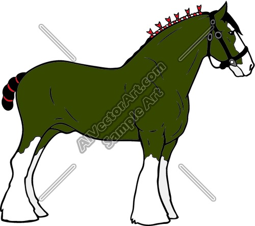 Clydesdale01nc2clr Clipart And Vectorart  Animals   Horses Vectorart