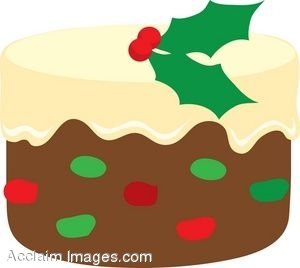 Description  Christmas Fruit Cake With Icing Clip Art  Clipart