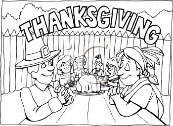First Thanksgiving Feast Clipart Clipart Suggest