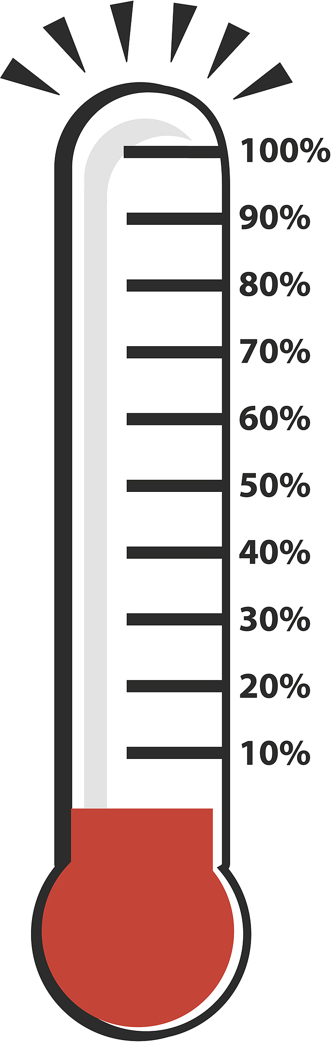 Fundraising Goal Thermometer Clipart - Clipart Kid