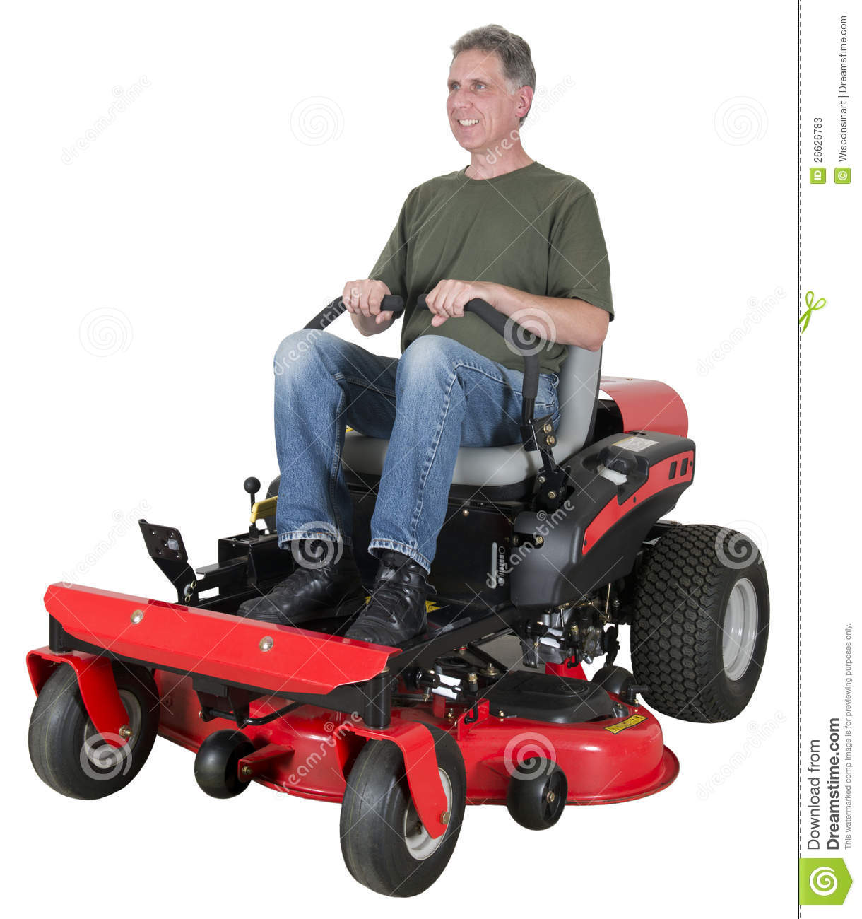 Man Riding Lawn Mower : Man on riding lawn mower clipart suggest