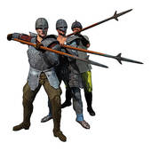 Medieval Spearmen   Royalty Free Clip Art