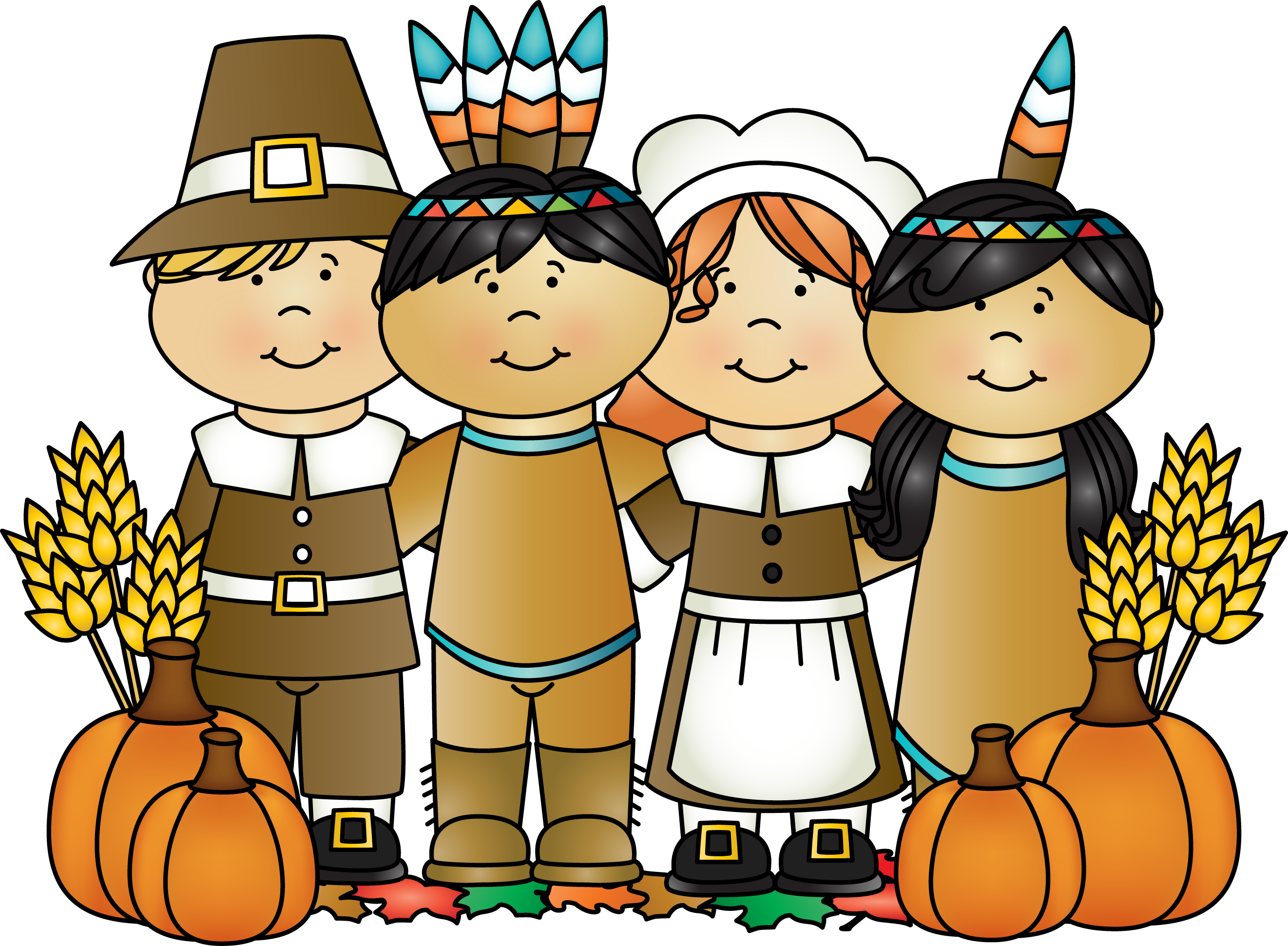 Clip Art Thanksgiving Feast Clipart first thanksgiving feast clipart kid one of the indians who was called squanto came to help pilgrims