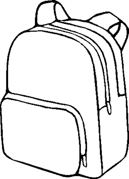 Out And Color Or Decorate This Coloring Page Featuring A Backpack
