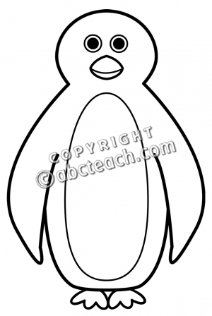 Penguin Clip Art Black And White   Clipart Panda   Free Clipart Images