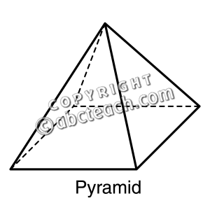 Pyramid Clip Art Black And White