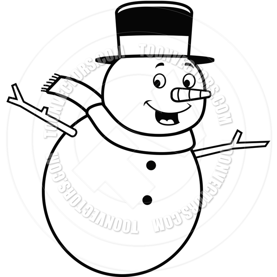 Snowman Black And White Clipart - Clipart Suggest