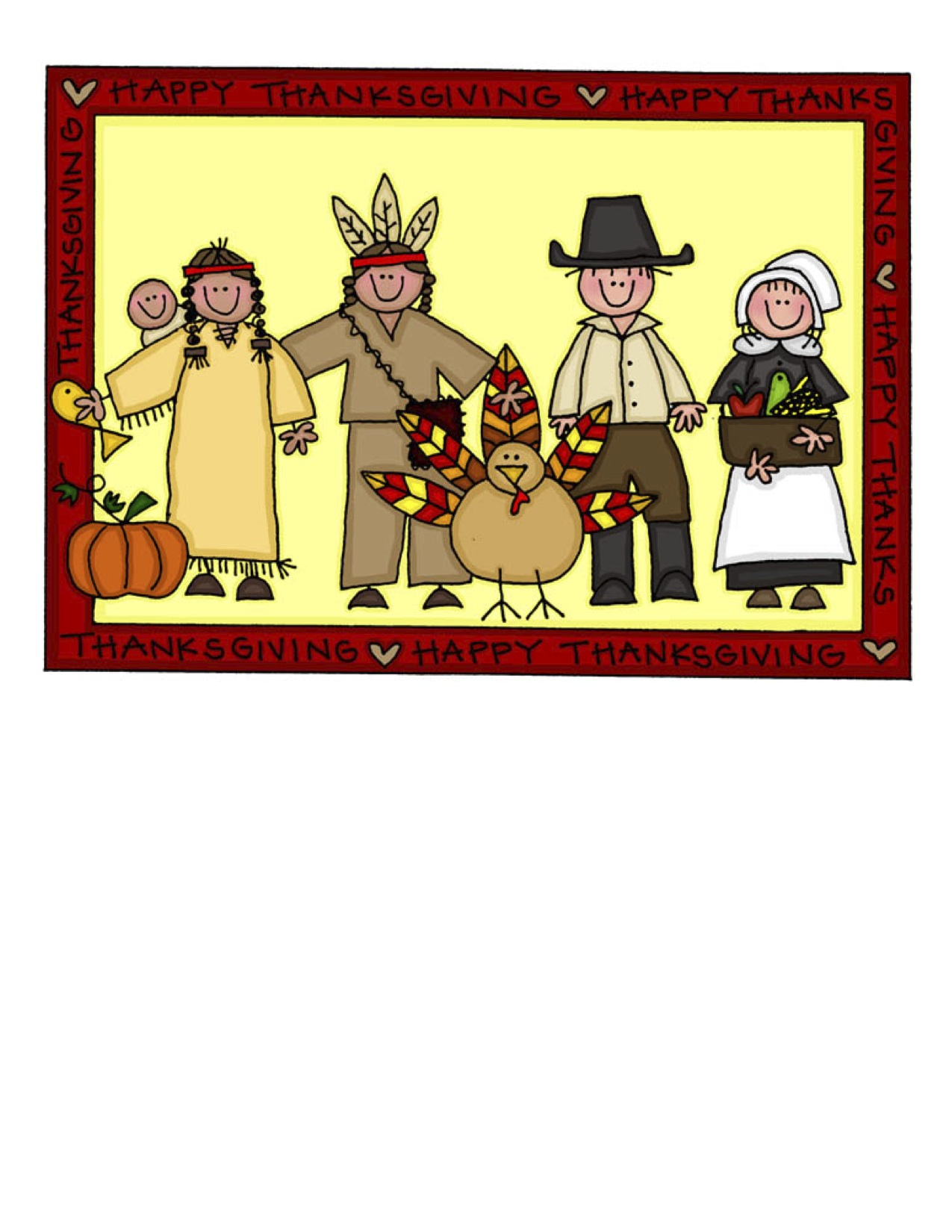 Thanksgiving Clipart 1275 X 1650 265 5kb From Thanksgiving    250 X