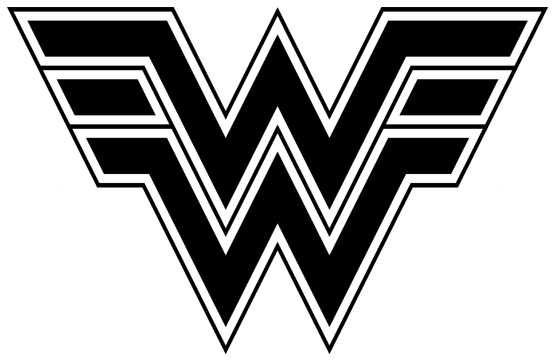 Wonder Woman Logo Black And White Images   Pictures   Becuo