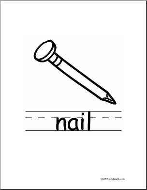 Clip Art Black And White Nail Clipart - Clipart Suggest