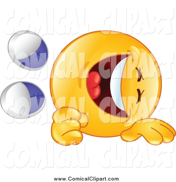 Clip Art Of An Emoticon Rolling On The Floor And Laughing Rotfl