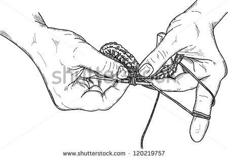 Crochet Hook Clip Art Vector   Crochet Hands Wuth