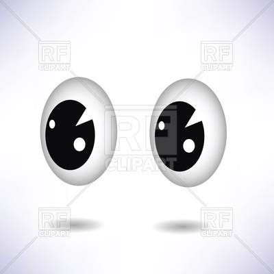 Cute Cartoon Eyes Isolated On White 44810 Objects Download Royalty