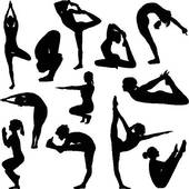 Different Yoga Poses   Clipart Graphic