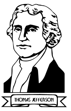 Graphics Com Clipart Holidays Presidents Day Thomas Jefferson Shtml