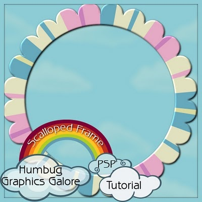 How To Make Round Scallop Frame  Lots Of Other Great Tutorials Too