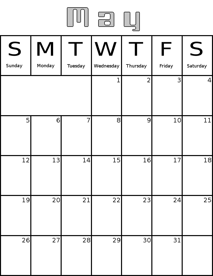Calendar May 2013 : May http wpclipart com time monthly calendar