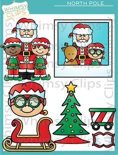 The North Pole Clip Art Set Is Packed Full Of Goodies  This Clip Art