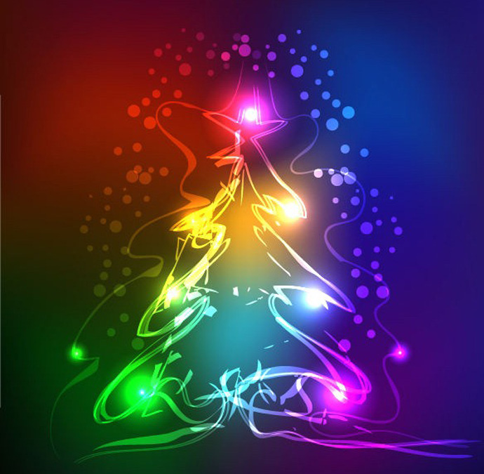 Abstract Neon Christmas Tree Vector Graphic Bing Gallery Clipart Rb Letter Images Hd