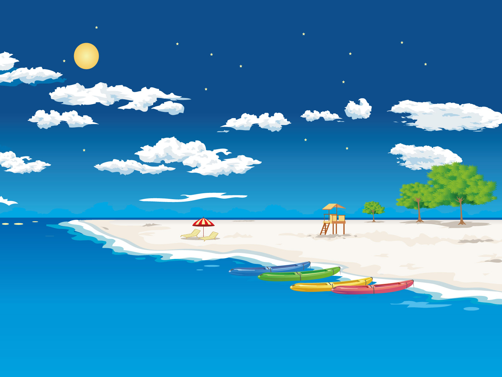 Beach Background Clipart - Clipart Kid