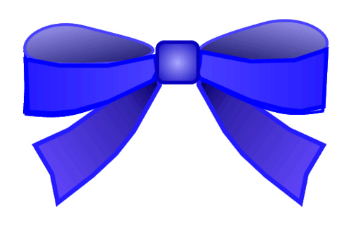 Blue Bow Clipart 8cm Wide    Clipart Bowclipart Freeclipart Wide Blue