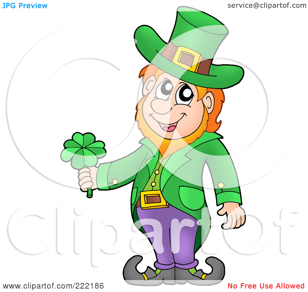 Clipart Illustration Of A Friendly Leprechaun Wearing A Green Top Hat