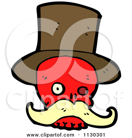 Clipart Of A Scared Top Hat   Royalty Free Vector Illustration By