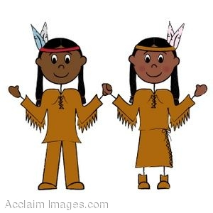 Description  Clipart Of An Indian Brave And An Indian Maiden  Clip Art