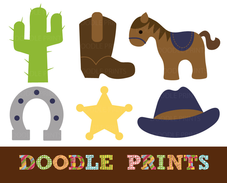 Cowboy Birthday Clipart - Clipart Kid