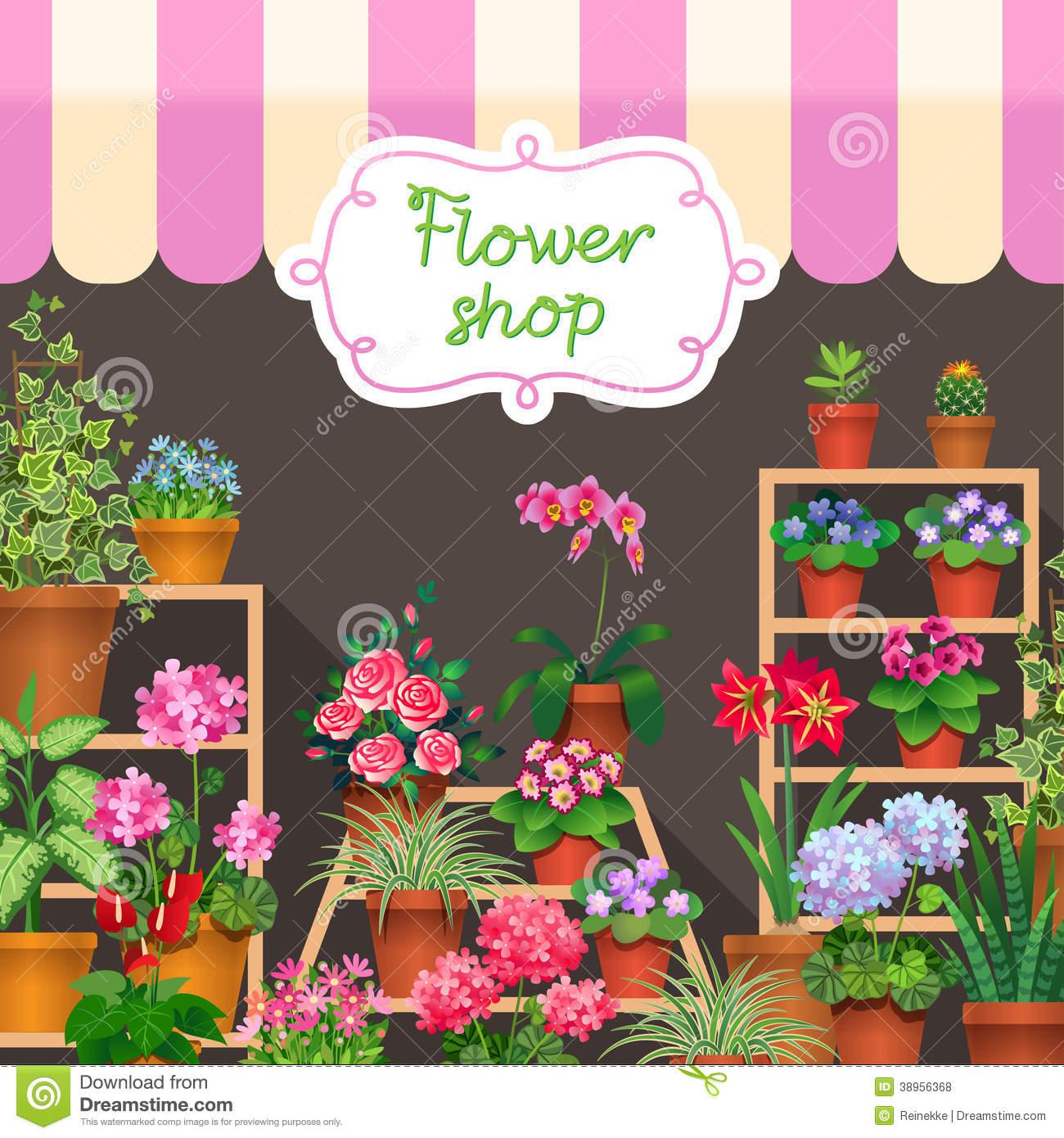 Flower Shop Clipart - Clipart Suggest