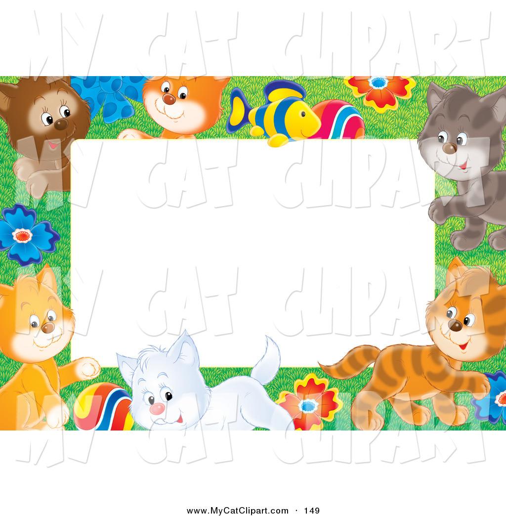 cat border clipart
