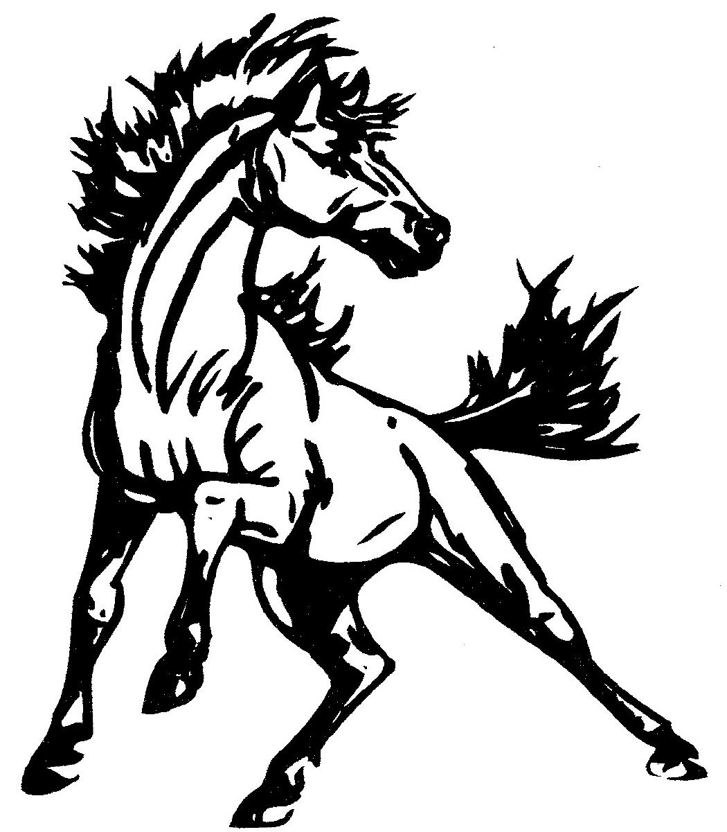 Mustang Horse Clipart - Clipart Kid