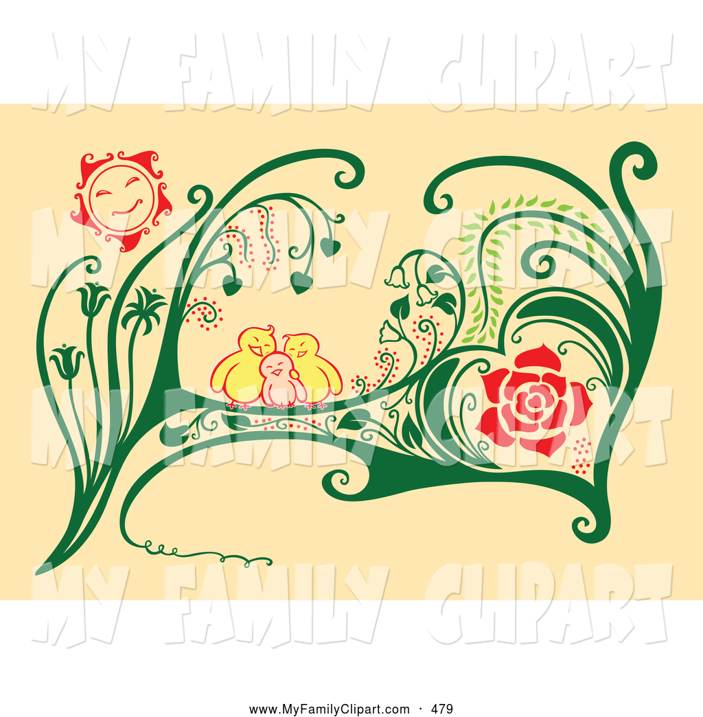 Royalty Free Family Clip Art Of A Cute Family Of