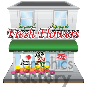 Flower Shop Clipart - Clipart Suggest Grocery Store Logos Free