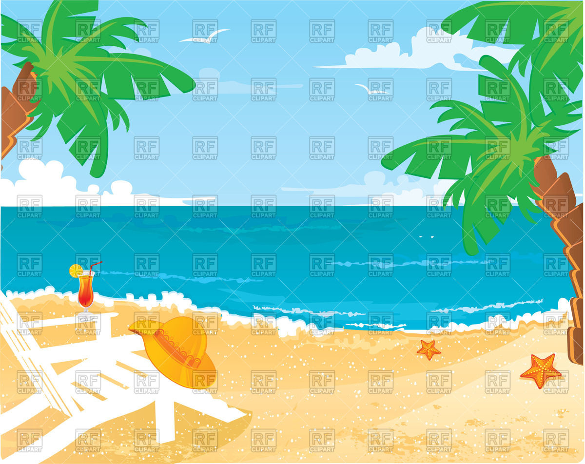 Enjoy Tropical Summer Holidays Backgrounds Vector 04 Free: Beach Background Clipart